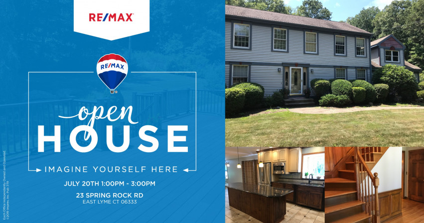 Open House| 23 Spring Rock Rd East Lyme $489,000