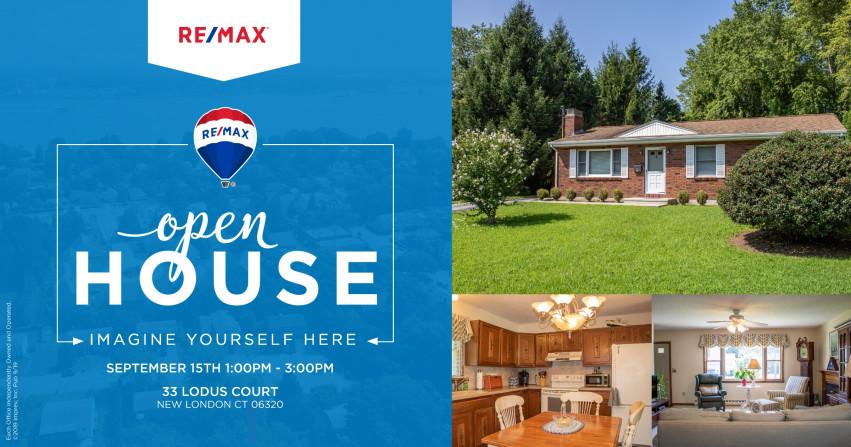 Open House| 33 Lodus Court New London, $195,000