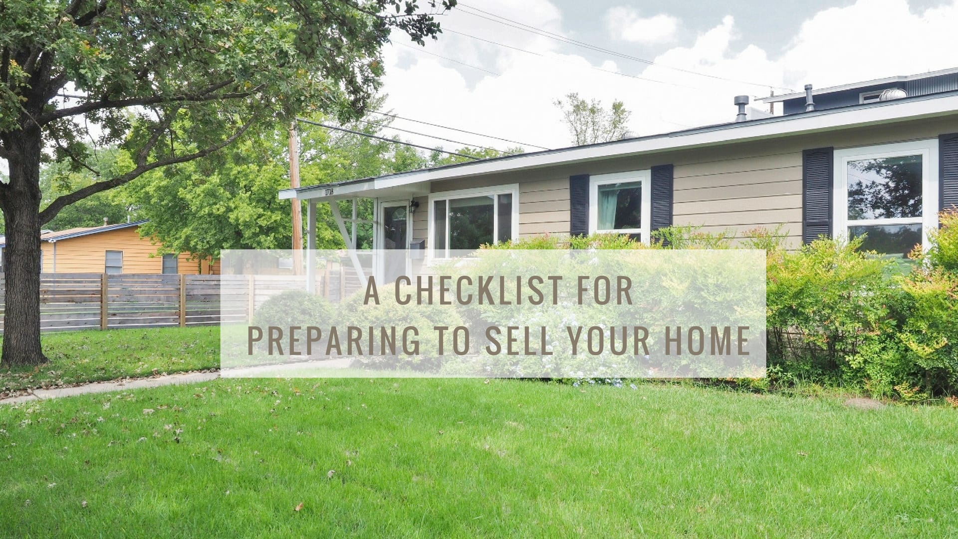 A checklist for preparing to sell your home