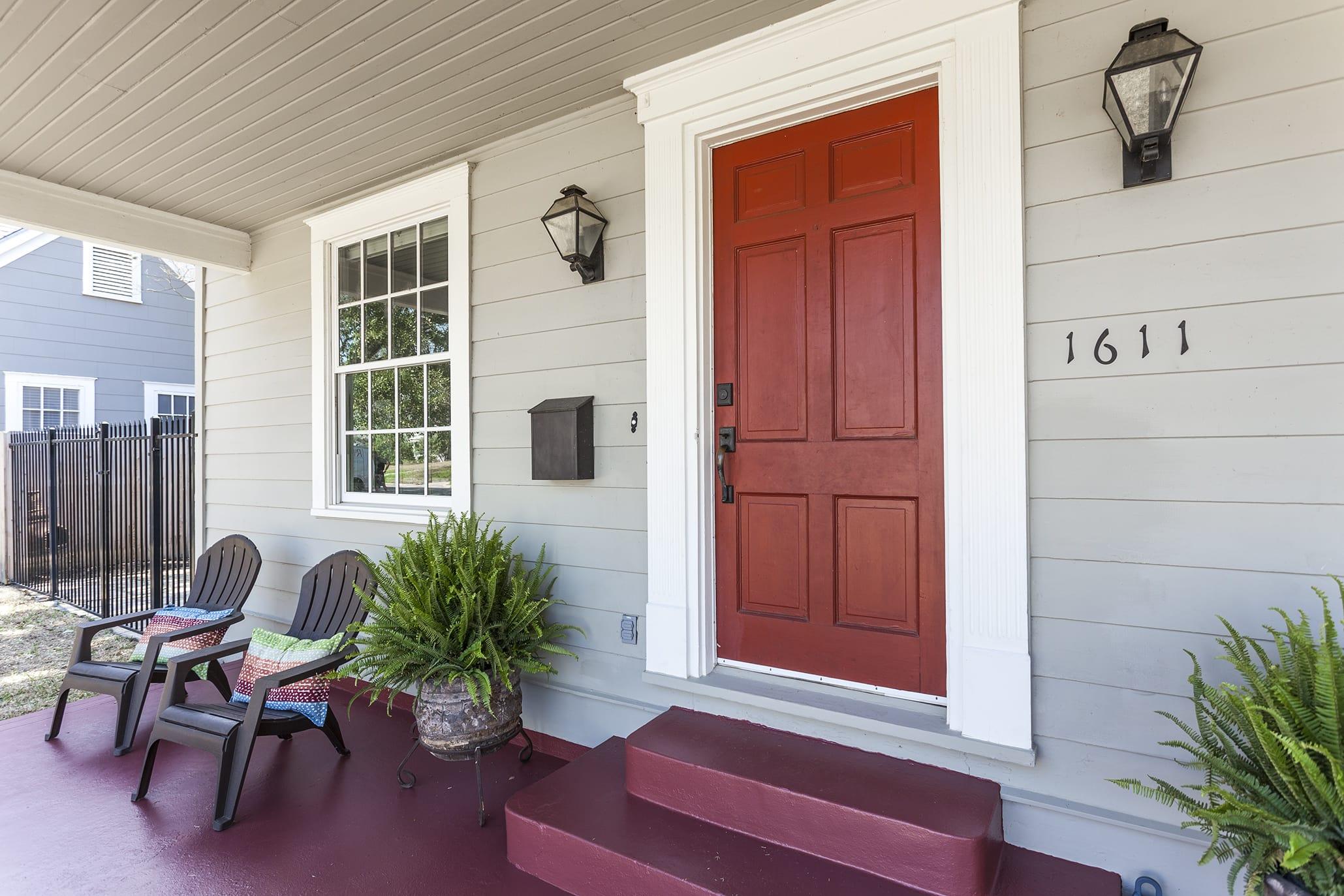 Charming red door