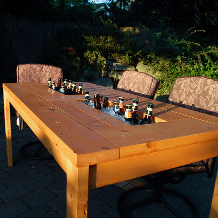 Add a drink cooler to your patio table