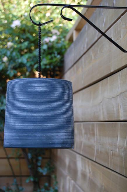 Make a lantern from a flower pot