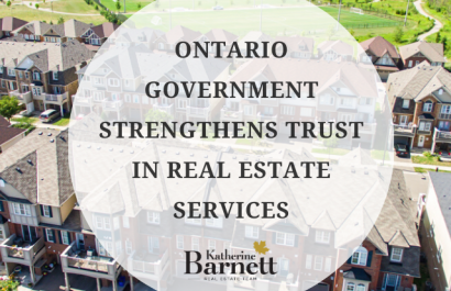 Ontario Government Strengthens Trust in Real Estate Services